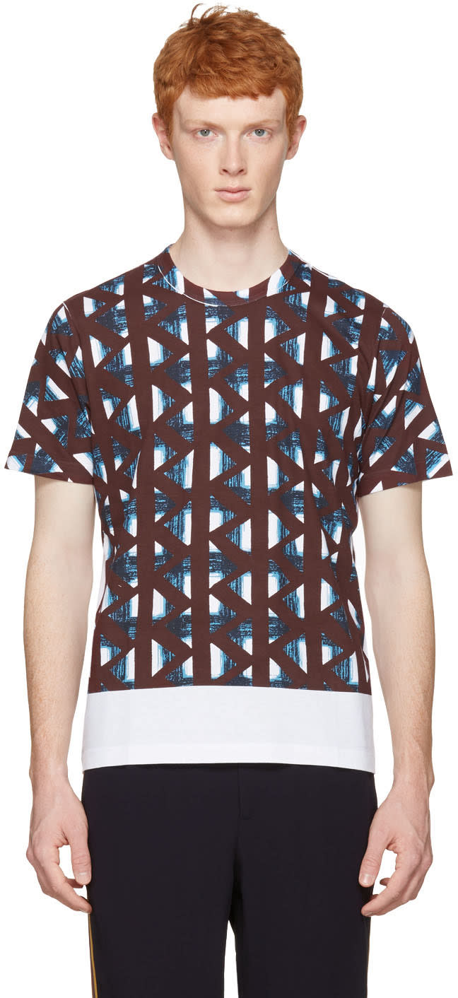 Marni White and Multicolor Thrum Print T-shirt