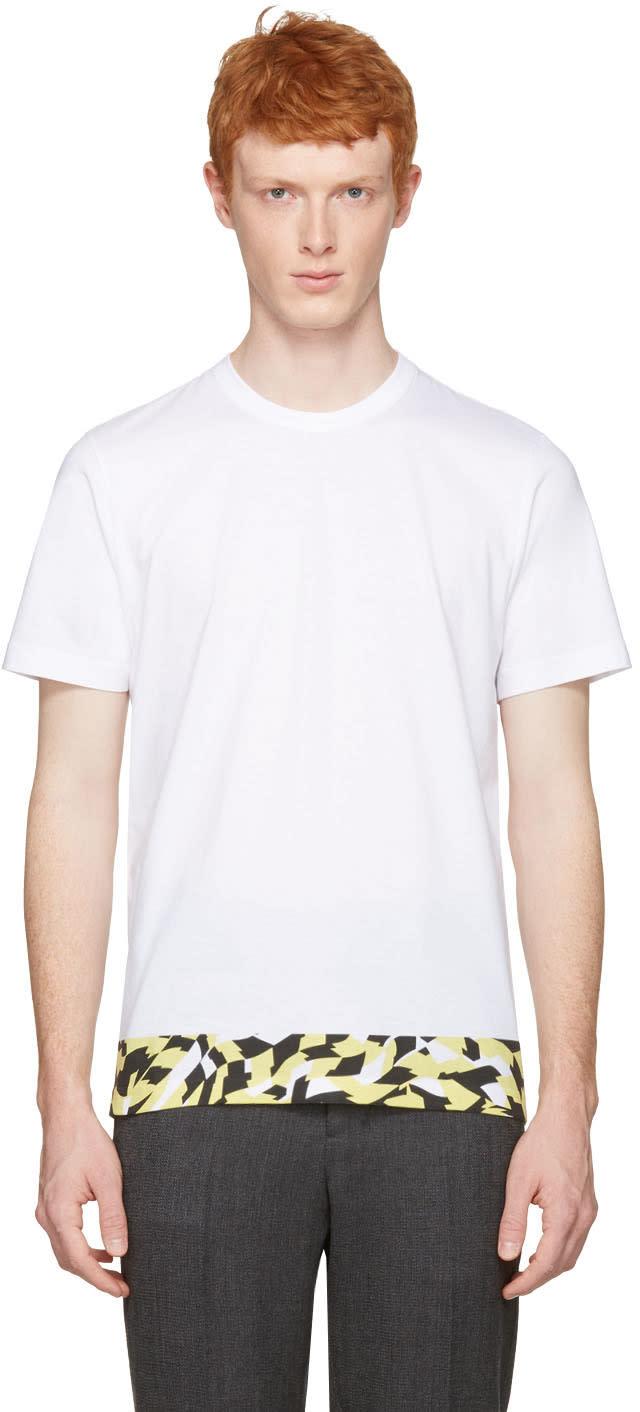 Marni White Printed Hem T-shirt