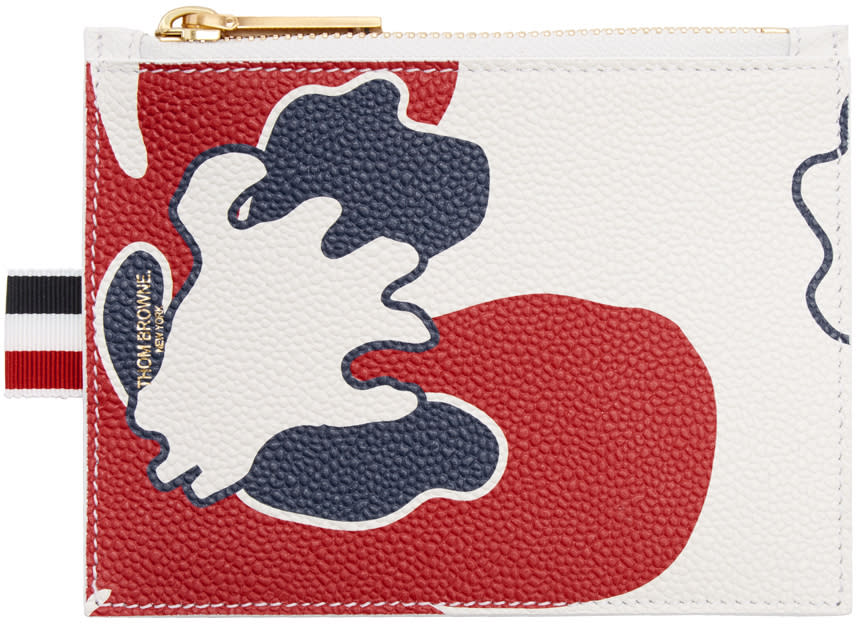 Thom Browne Tricolor Small Floral Outline Coin Purse