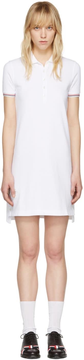 Thom Browne White A-line Polo Dress
