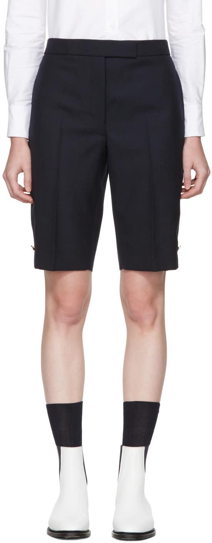Thom Browne Navy Classic Bermuda Shorts