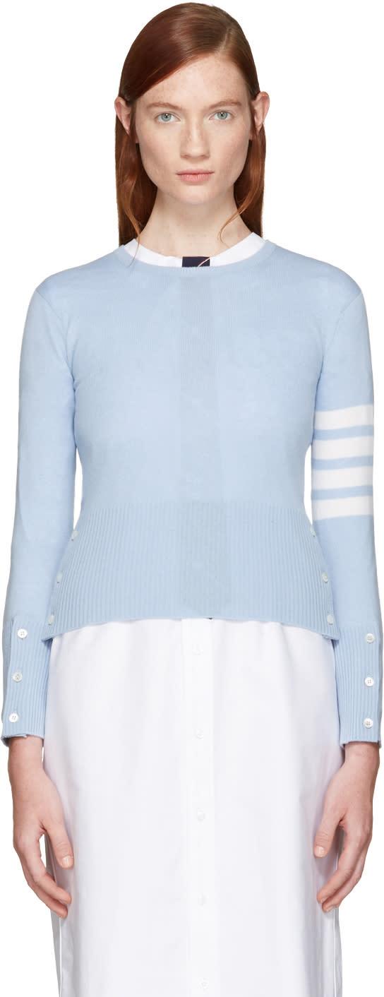 Thom Browne Blue Classic Crewneck Short Pullover