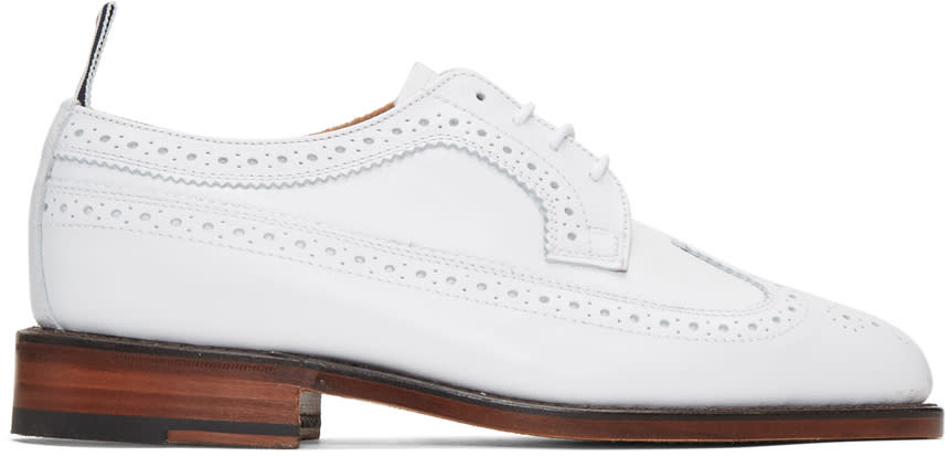 Thom Browne White Classic Longwing Brogues