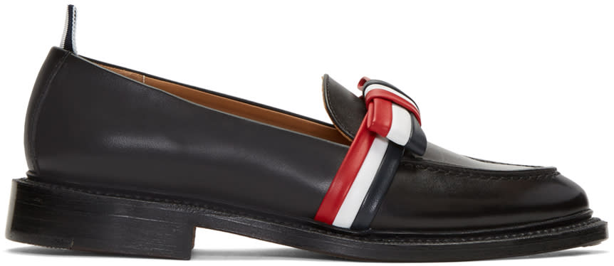 Thom Browne Black Bow Loafers