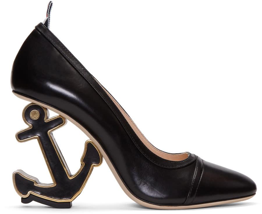 Thom Browne Black Anchor Icon Heels