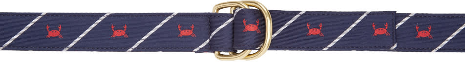 Thom Browne Navy Crab Rope D-ring Belt