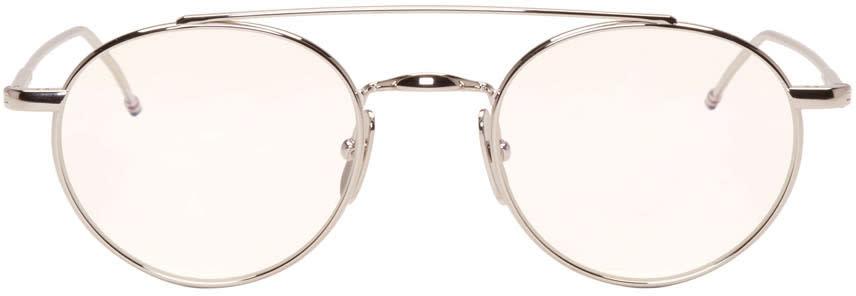 Thom Browne Silver Tb 101 Glasses