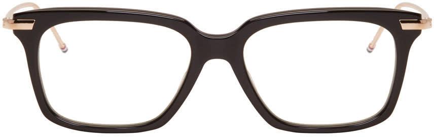 Thom Browne Black and Gold Tb 701 Glasses