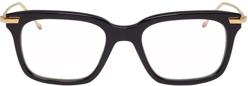 Thom Browne Navy and Gold Tb-701 Glasses