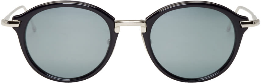 Thom Browne Navy and Silver Tb 011 Sunglasses