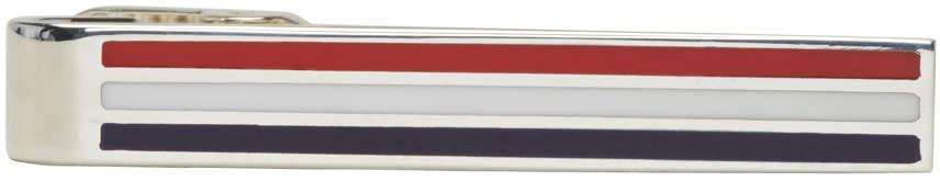 Thom Browne Silver Classic Horizontal Long Tie Bar