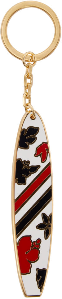 Thom Browne White Surfboard Keychain