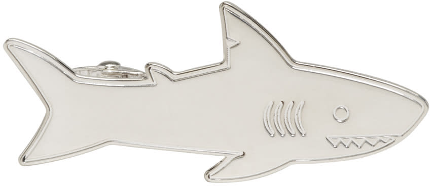 Thom Browne Silver Shark Tie Bar