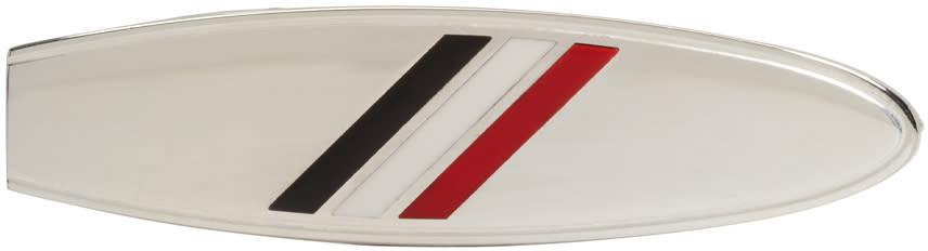 Thom Browne Silver Surfboard Tie Bar