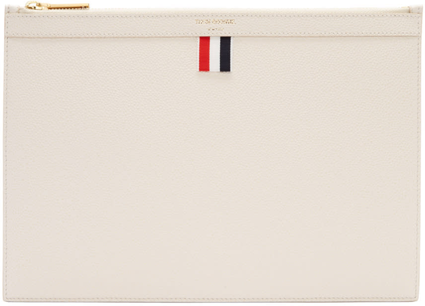 Thom Browne Off-white Small Tablet Holder