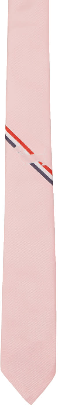 Thom Browne Pink Hector Stripe Classic Tie