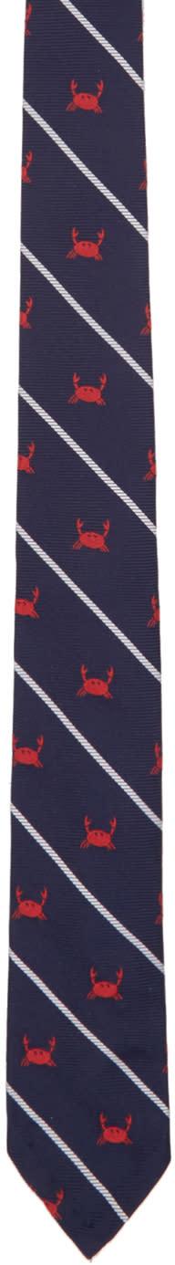 Thom Browne Navy Crab Rope Classic Tie