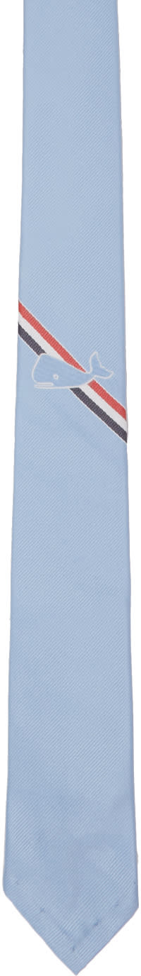 Thom Browne Blue Whale Stripe Classic Tie