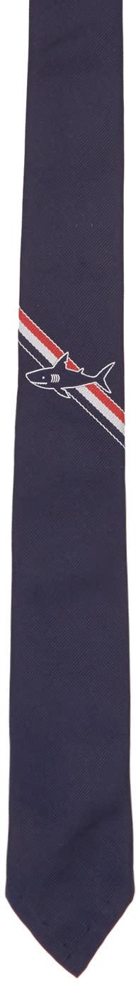 Thom Browne Navy Shark Stripe Classic Tie