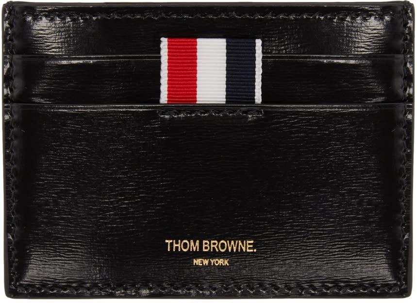Thom Browne Black Striped Single Card Holder