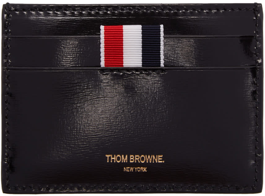 Thom Browne Black Whale Single Card Holder