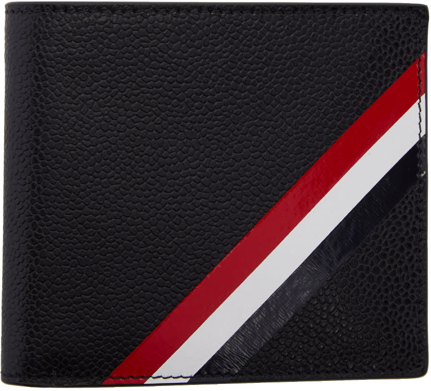 Thom Browne Black Diagonal Stripe Wallet