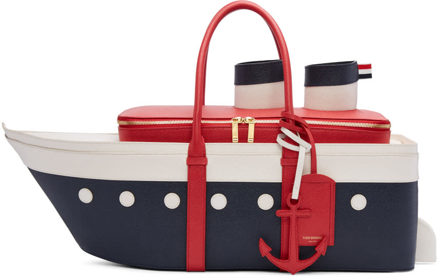 Thom Browne Tricolor Cruise Liner Tote