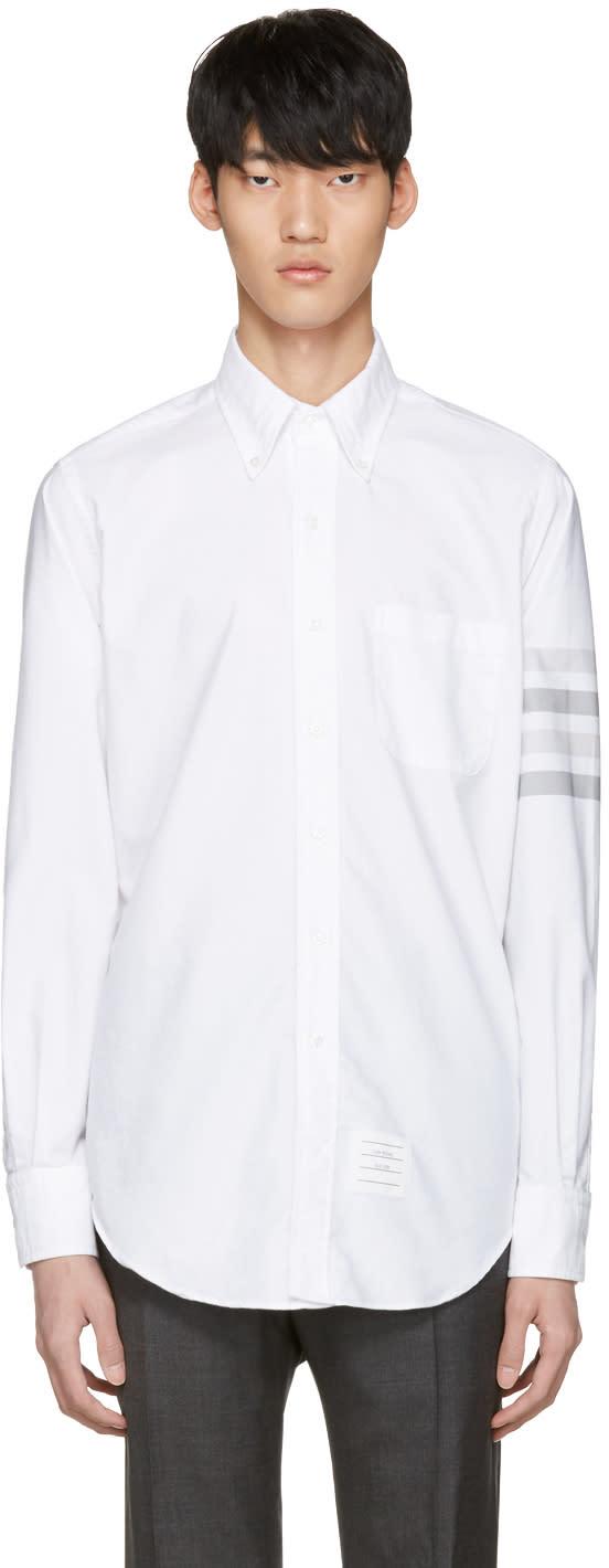 Thom Browne White Four Bar Classic Shirt
