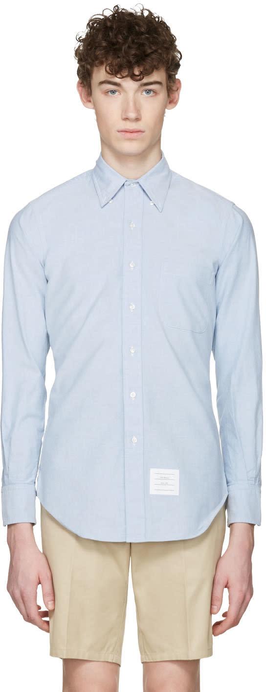 Thom Browne Blue Oxford Classic Shirt