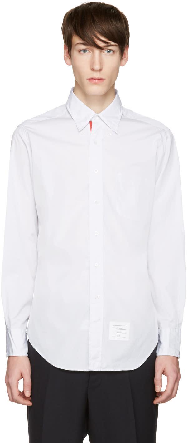 Thom Browne Grey Poplin Classic Shirt