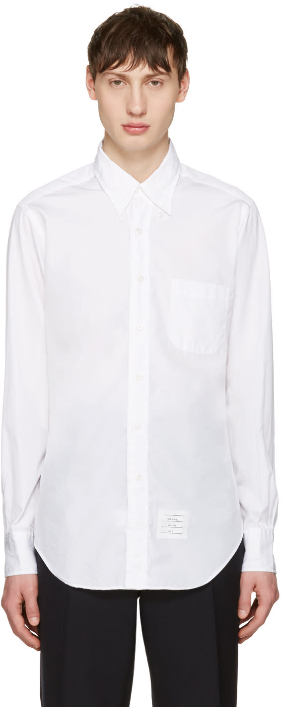 Thom Browne Off-white Poplin Classic Shirt