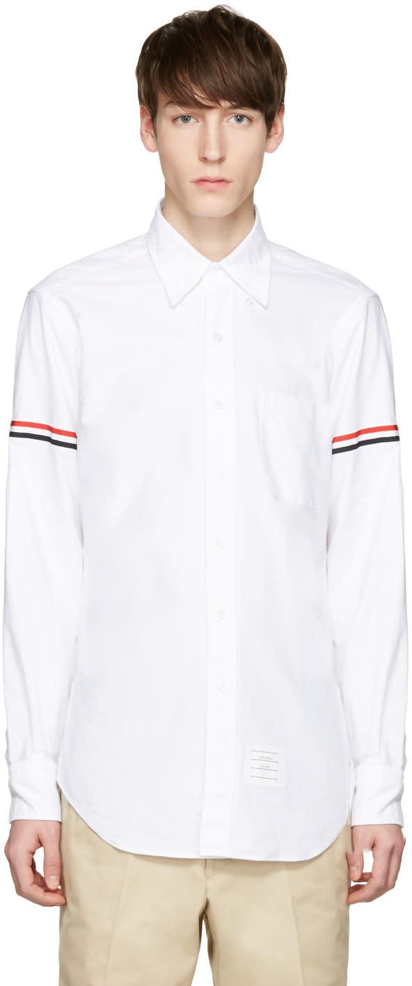 Thom Browne White Oxford Grosgrain Classic Shirt