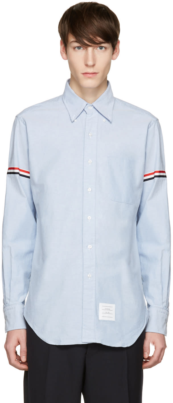Thom Browne Blue Oxford Grosgrain Classic Shirt