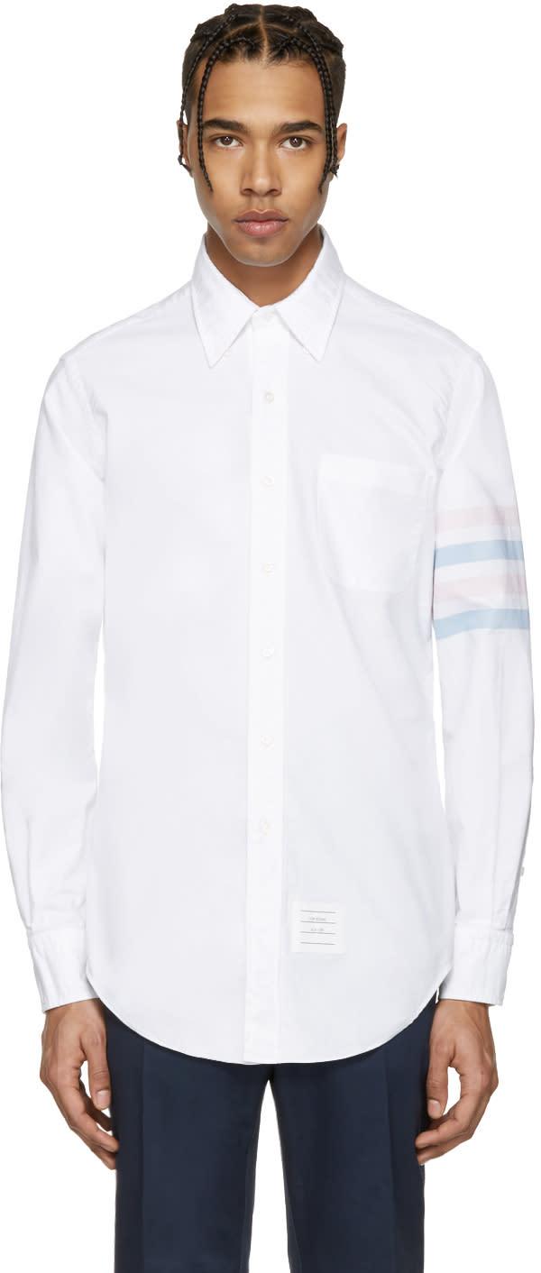 Thom Browne White Classic Four Bar Shirt