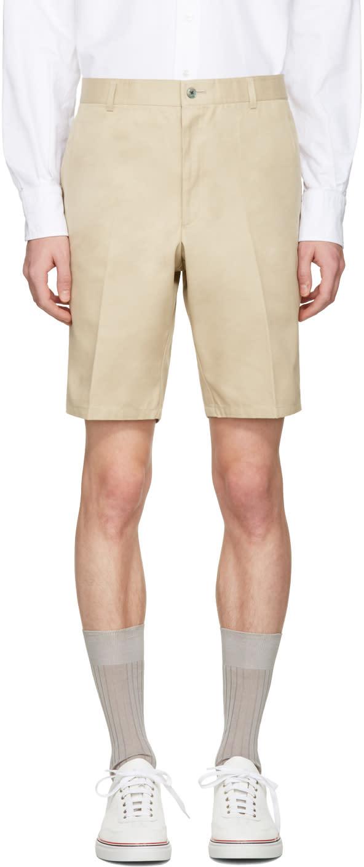 Thom Browne Khaki Unconstructed Chino Shorts