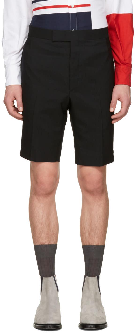 Thom Browne Black Classic Backstrap Shorts