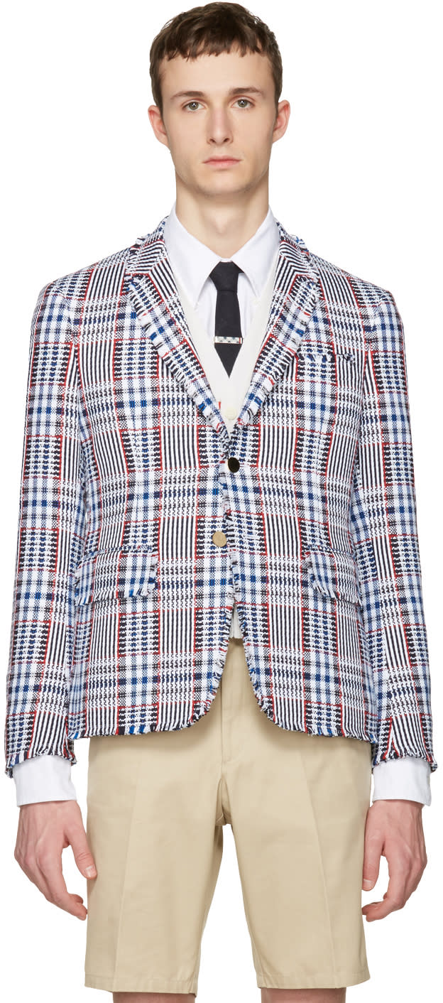 Thom Browne Multicolor Tweed High Armhole Blazer