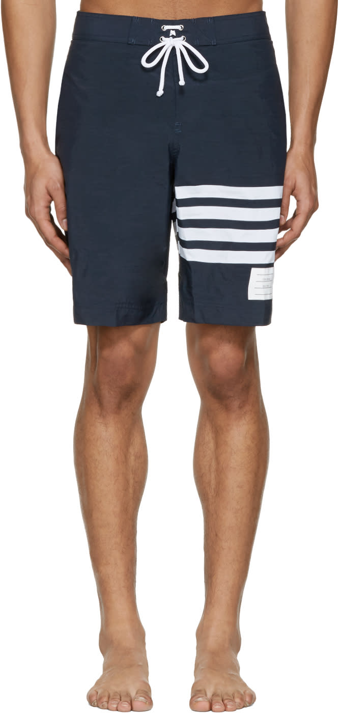 Thom Browne Navy Board Shorts