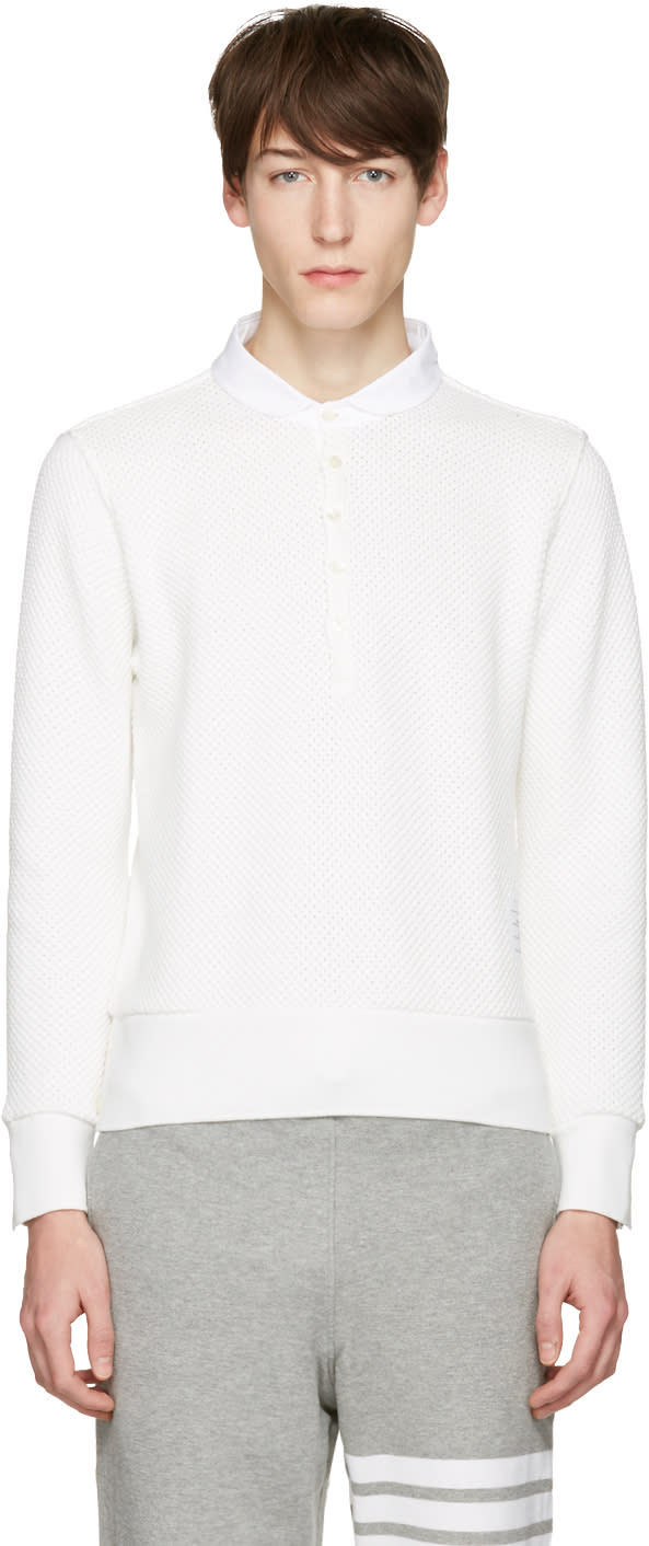 Thom Browne White Collection Icon Polo