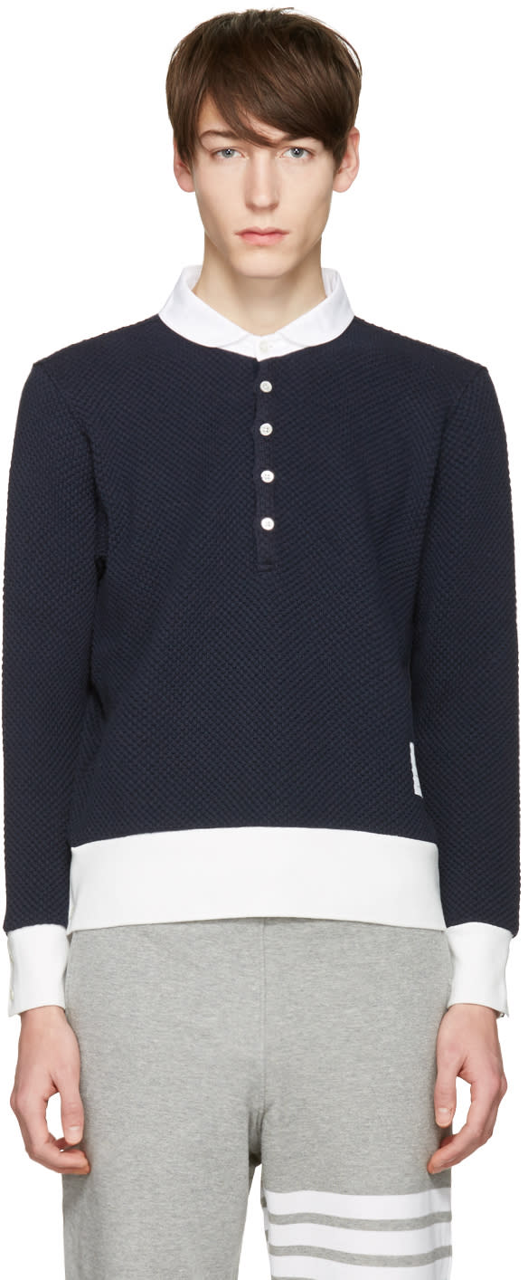 Thom Browne Navy Collection Icon Polo