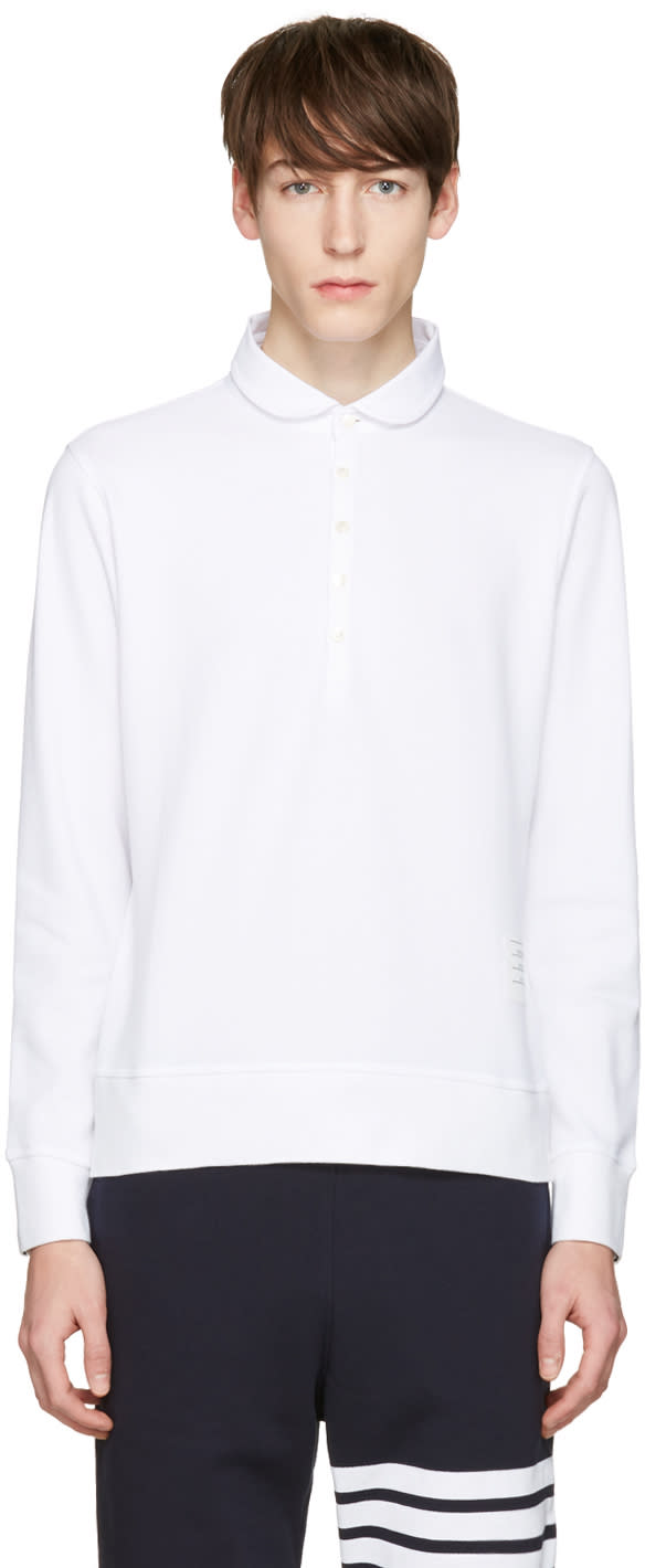 Thom Browne White Collection Polo