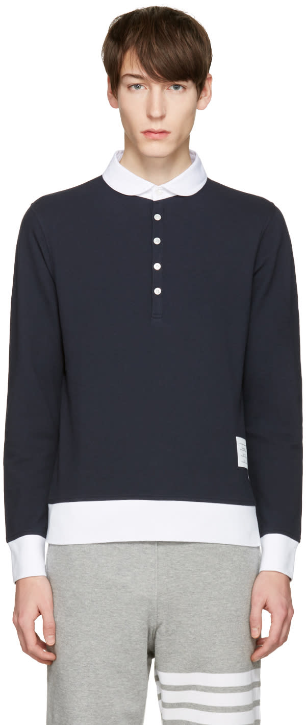 Thom Browne Navy Collection Polo