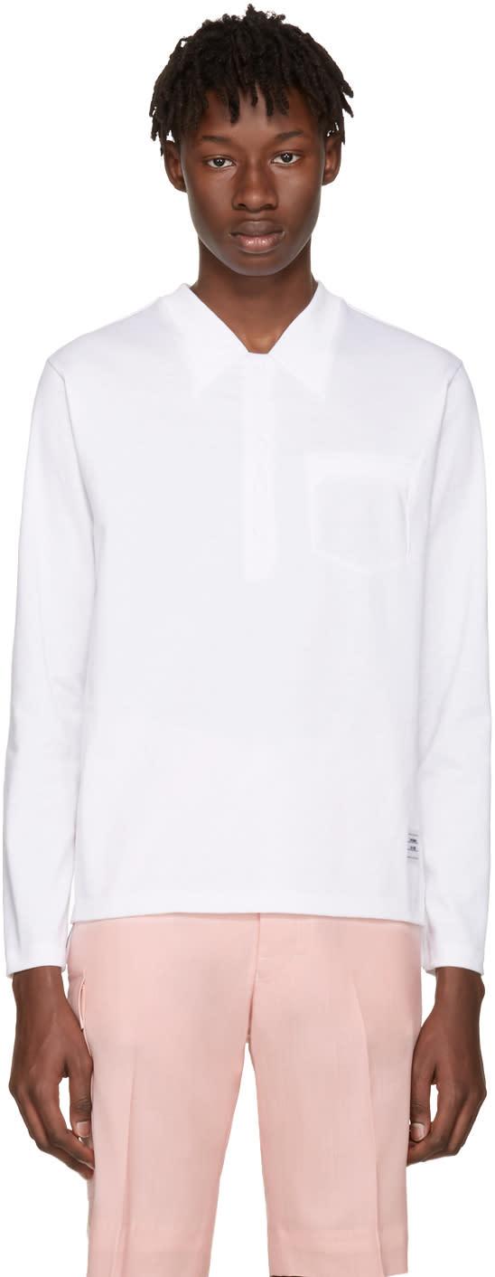 Thom Browne White Trompe Loeil Polo T-shirt