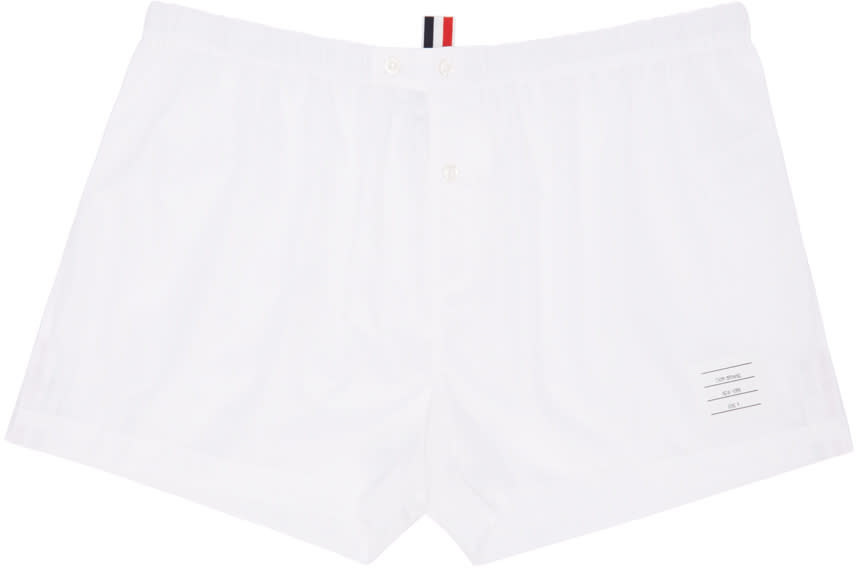 Thom Browne Off-white Poplin Boxers