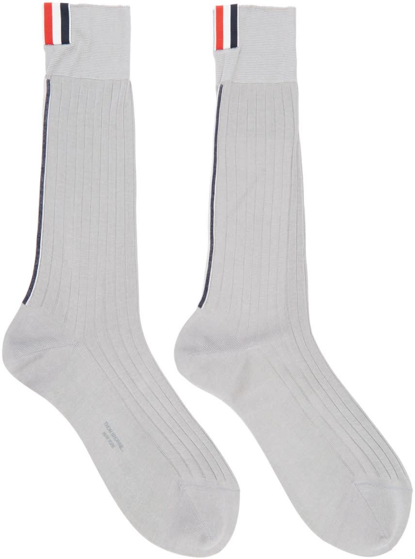 Thom Browne Grey Striped Socks