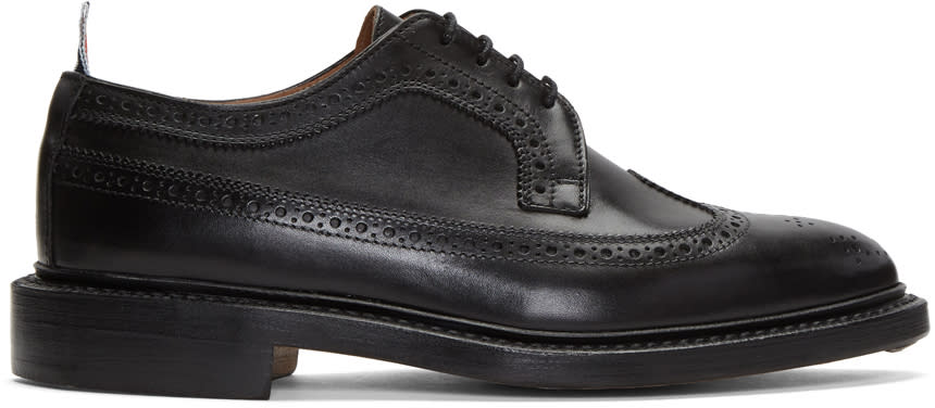 Thom Browne Richelieus Longwing Noirs Classic