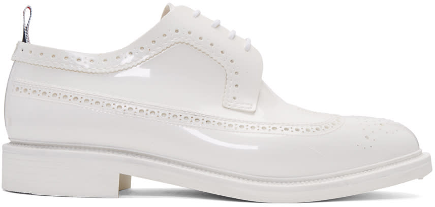 Thom Browne White Rubber Classic Longwing Brogues