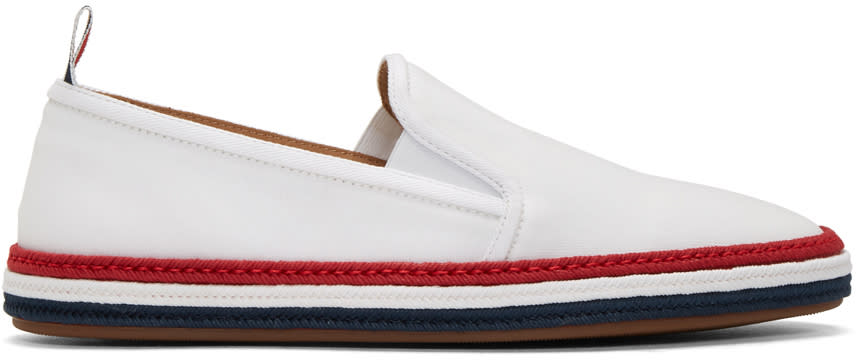 Thom Browne Espadrilles Blanches Rope