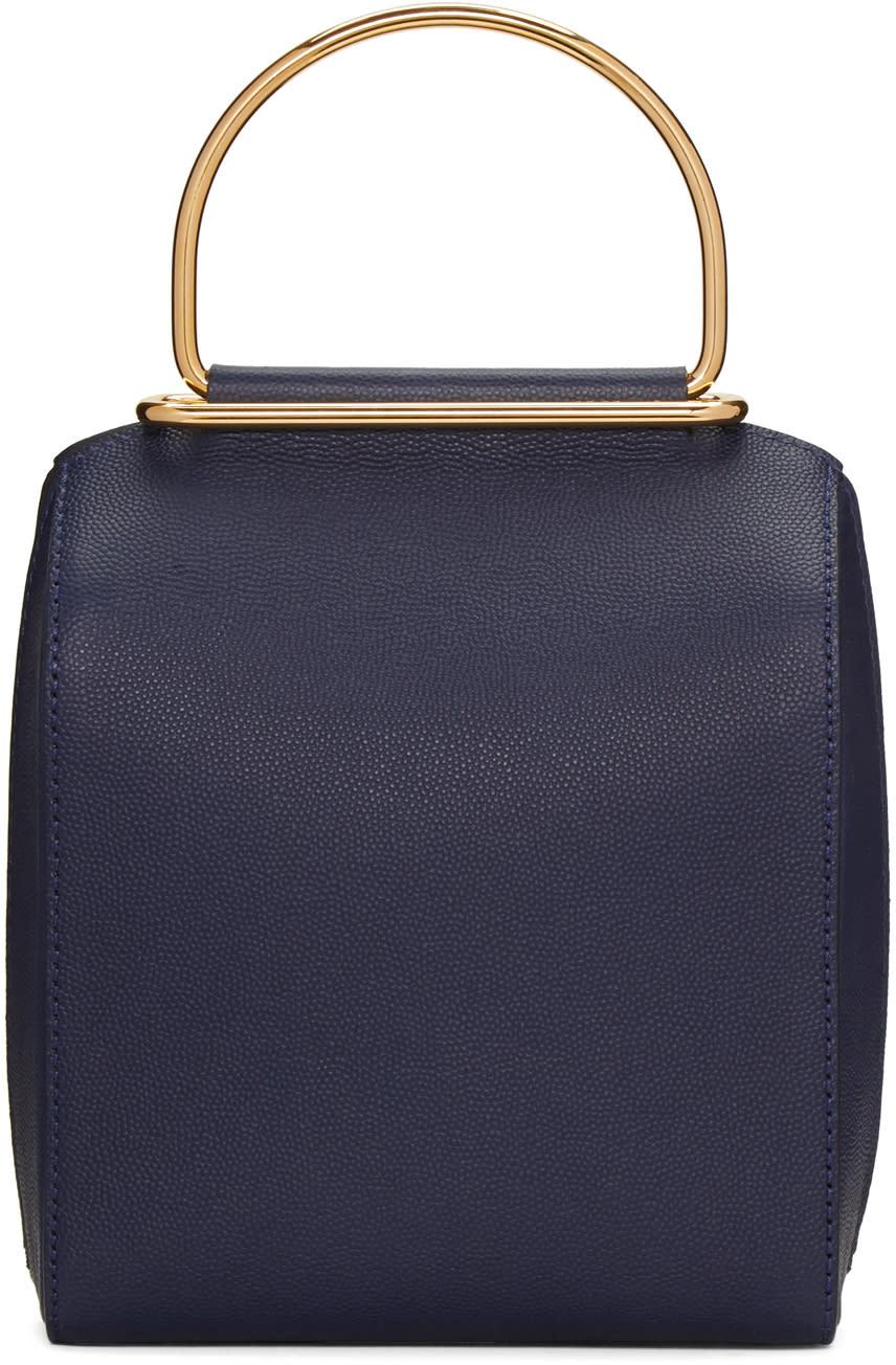Roksanda Navy Small Top Handle Bag