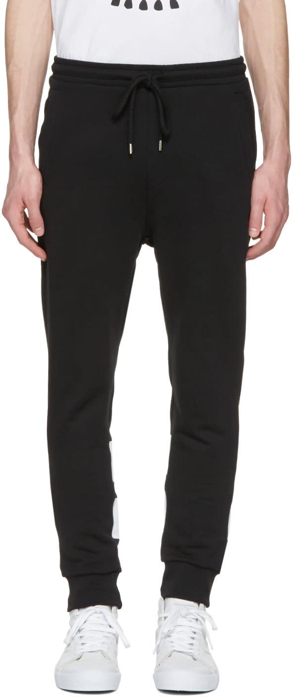 Markus Lupfer Black Skull and Stripes Lounge Pants